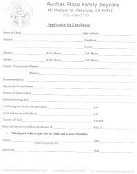 Daycare Contract Template Daycare Job Application Template