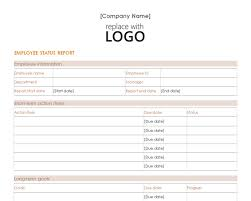 Employee Status Report Template Employee Status Report Employee Status Report Template 1
