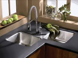 Kitchen Faucet  Beautiful Kitchen Sink Design Ideas Grey Metal - Kitchen faucet ideas