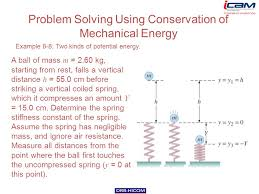 problem solving using conservation of mechanical energy example 8 8 two kinds of potential