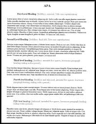 Apa Essay Examples Headings In Apa Papers Examples