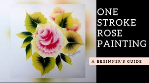 quick and easy rose painting folk art acrylic paint diy
