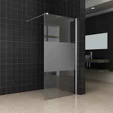 8mm 10mm walk in frosted glass shower screen inloop duschwand