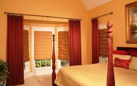 Red Bedroom Curtains Bedroom Window Curtains Brown