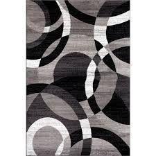 world rug gallery contemporary modern circles abstract gray 3 ft x 5 ft indoor area rug 105 grey 3 3 the home depot