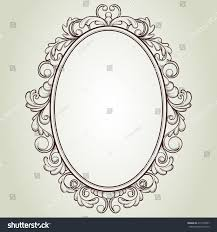 Vintage frame design oval Simple Vector Oval Vintage Frame Floral Sketch Design Shutterstock Vector Oval Vintage Frame Floral Sketch Stock Vector royalty Free