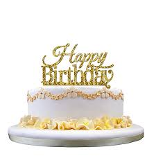 Fashion Birthday Cake Topper Happy Birthday Candle Party Supplies