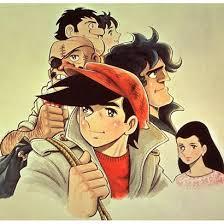 赤いハンチング帽にトレンチコートを着た矢吹丈と登場キャラクターたちのあしたのジョーの壁紙