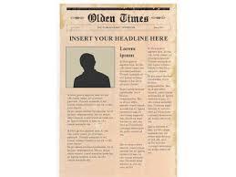 Gean moreno + ernesto oroza: Editable Newspaper Template Portrait