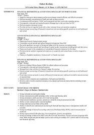 Resume Sample For Accountant Position Financial Reporting Accounting Specialist Resume Samples Velvet Jobs