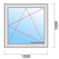 Fenster 100x100 Cm Zu Günstigen Preisen Fensterblickde
