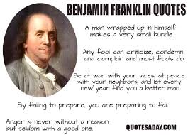 Benjamin Franklin Quotes New Benjamin Franklin Quotes Quotes A Day