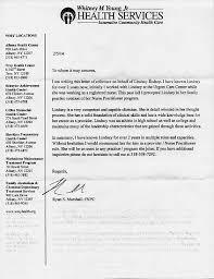 letter of recommendation for nurse practitioner professional attestations lindsay j bishop bsn fnp