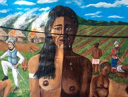 ilration of the genocide of taino people in the dominican republic