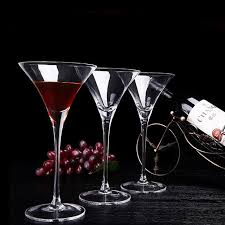 bar home premium unlead crystal 200ml wine glass cocktail triangle cup goblet 6pcs set