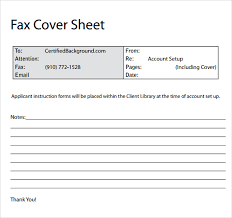 Sample Fax Cover Sheet 10 Examples Format