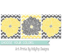 yellow gray wall art floral burst home decor flowers and chevron dahlia pictures bedroom wall art on yellow bathroom wall art with amazon yellow gray wall art floral burst home decor flowers and