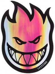 spitfire pumpkin. spitfire fireball prism sticker medium pumpkin