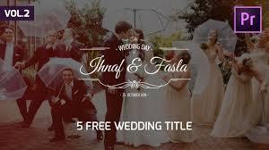 Wedding Title Template 5 Animated Wedding Title Preset Vol 2 Premiere Pro Template