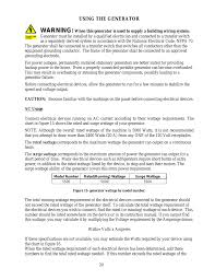 Ac Usage Using The Generator Warning Wen 56551 5500 Watt