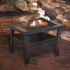 woven metal furniture. Square Woven Metal Fire Pit With Spark Screen And Cover \u2014 26in. Furniture