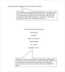 Title Page Apa Format Template Sample Apa Format Title Page Template 6 Free Documents In Pdf Word