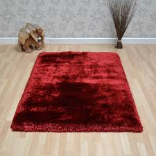 plush gy rugs in red