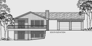 house front color elevation view for 9947 master on main house plans house plans with