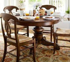 pottery barn round dining table and chairs dining room