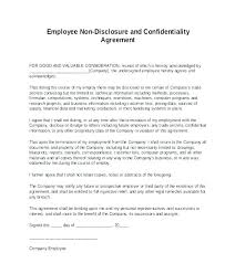 Confidentiality Agreement Samples Free Disclosure Form Template Free Confidentiality Agreement Form