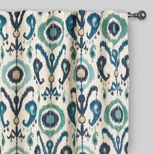 curtain surprising ikat curtains indigo ikat concealed tab top curtains set of 2 window treatments target
