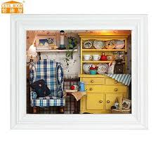 diy doll furniture. DIY Doll House Wooden Houses Miniature Dollhouse Furniture Kit Photo Frame Handmade Toys For Diy