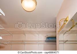 empty walk in closet. Empty Walk-in Closet With Shelves. Dressing Room Interior Elements. -  Csp48864071 Empty Walk In I