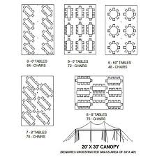 Tent Seating Chart Tents Jemilets Party Rental