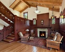 mission style living room furniture living room. mission style living room furniture armchairs tall back chair clock rug sconces pendants hardwood floors stairs n