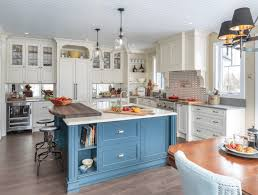 Kitchen Blue Color Kitchen Island White Color Kitchen Cabinet