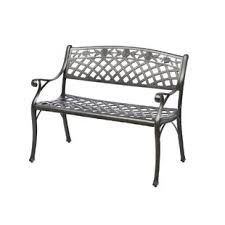 aluminum garden bench. Unique Aluminum Markham Cast Aluminum Garden Bench On N