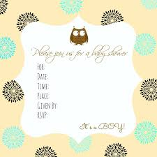 Free Baby Shower Invitations Printable Free Owl Baby Shower Invitation Template Oddesse Info