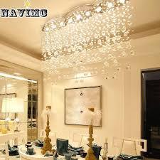 modern large rectangular curtain wave crystal chandelier lighting for hotel hall dining room foyer led ceiling lamp hanging lamps globe pendant