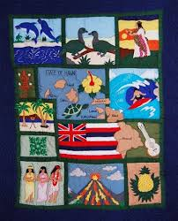 Hawaiian Quilting Designs and Patterns & Contemporary Hawaiian quilts differ from the traditional ones in that they  are usually multicolored and may depict animals, humans as well as other  tropical ... Adamdwight.com