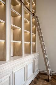 bookshelf lighting. rupert bevan commissions limed oak library bookshelf millwork lighting
