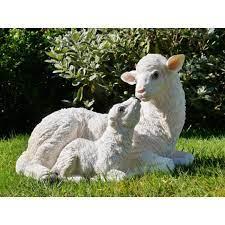 sheep lamb garden sculpture