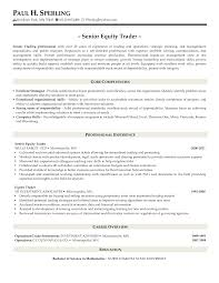 Sample Traders Resume Equity Trader Resume Sample Proprietary Latest Portrayal Add 1