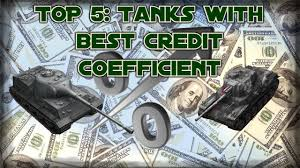 World Of Tanks Blitz Credit Earning Chart 2018 Top 5 Tanks With Best Credit Coefficient