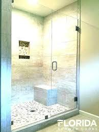 glass shower wall panels showers enclosure door ideas 3 8 inline block installation s i