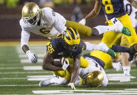 Michigan Football Scholarship Chart Michigan Drubs Notre Dame As Irish Identity Comes Into