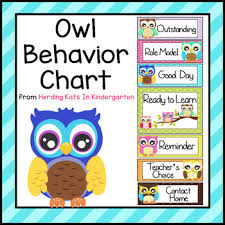Owl Behavior Clip Chart Owl Themed Behavior Clip Chart