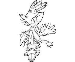 Sonic Coloring Pages Blaze Cartoon Cat Coloring Page Coloring