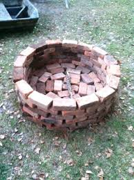 showy round brick fire pit fire pit fast and very with regular whole bricks building fire