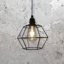wire cage pendant light. Geometric Cage Pendant Light Wire I